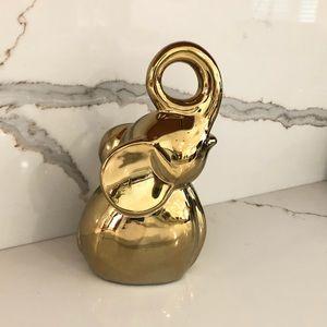 NWT Gold Elephant Figurine